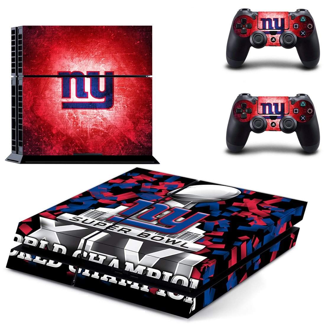 super bowl world champions ps4 skin decal for console and controllers