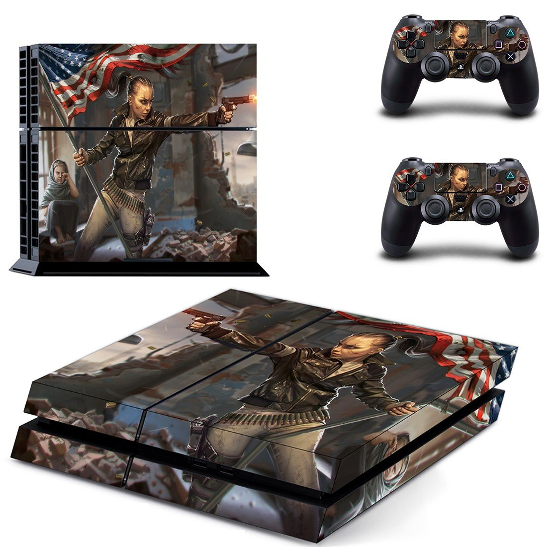 homefront the revolution girl ps4 skin decal for console and controllers