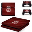 liverpool football club ps4 skin decal for console and controllers