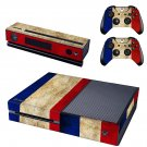 tri color skin decal for  Xbox one console and controllers