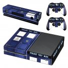police public call box skin decal for  Xbox one console and controllers