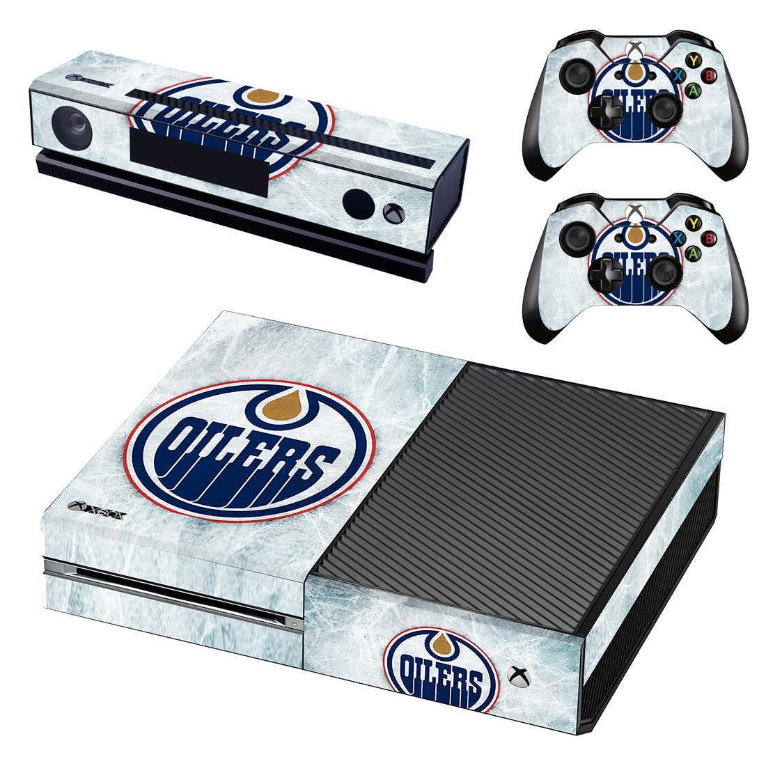edmonton oilers ice hockey team skin decal for  Xbox one console and controllers