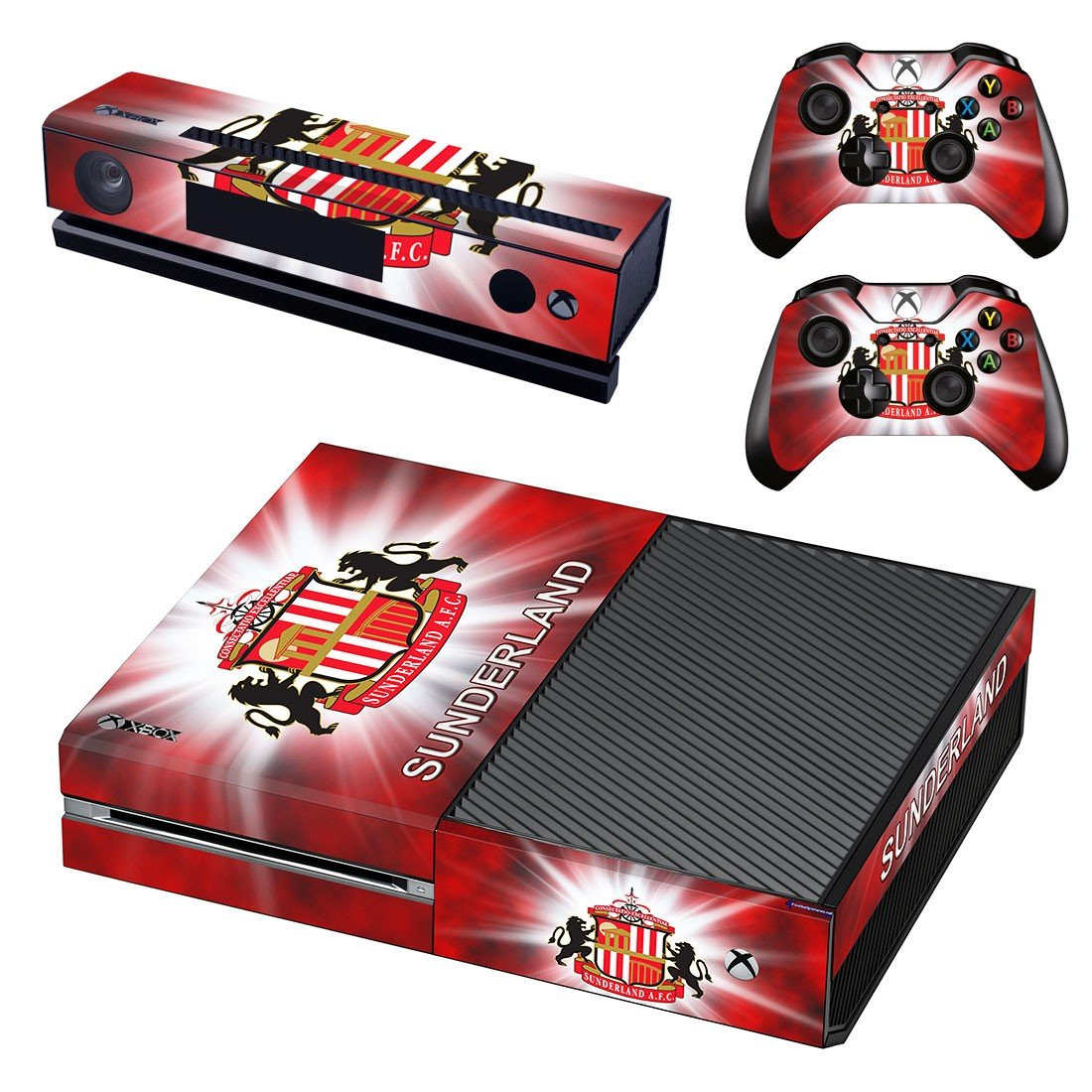 sunderland afc skin decal for  Xbox one console and controllers