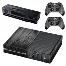 black wood skin decal for Xbox one console and controllers