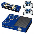st louis blues skin decal for Xbox one console and controllers