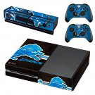 detroit lions skin decal for Xbox one console and controllers
