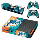 miami dolphins app skin decal for Xbox one console and controllers