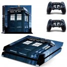 police public call box ps4 skin decal for console and controllers