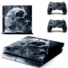 smoky skull ps4 skin decal for console and controllers