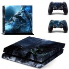 wrath of the lich king ps4 skin decal for console and controllers