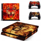 fire cat ps4 skin decal for console and controllers