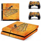 orioles ps4 skin decal for console and controllers