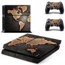 world map ps4 skin decal for console and controllers