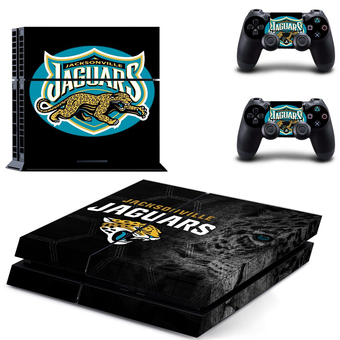 jacksonville jaguars ps4 skin decal for console and controllers