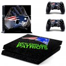 new england patriots ps4 skin decal for console and controllers