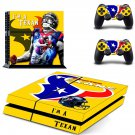 houston texans football team ps4 skin decal for console and controllers