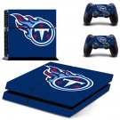 Tennessee Titans ps4 skin decal for console and controllers