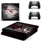 kansas city chiefs ps4 skin decal for console and controllers