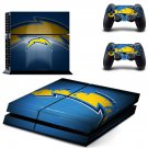 sandiego chargers ps4 skin decal for console and controllers