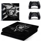 oakland raiders ps4 skin decal for console and controllers