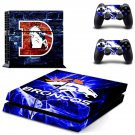 broncos denver ps4 skin decal for console and controllers