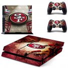san francisco 49ers ps4 skin decal for console and controllers