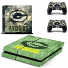 green bay packers ps4 skin decal for console and controllers