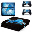 detroit lions ps4 skin decal for console and controllers