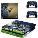 st louis rams ps4 skin decal for console and controllers