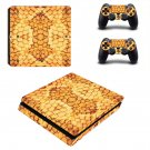 snake skin Play Station 4 slim skin decal for console and 2 controllers