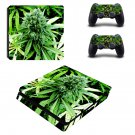 weed Play Station 4 slim skin decal for console and 2 controllers