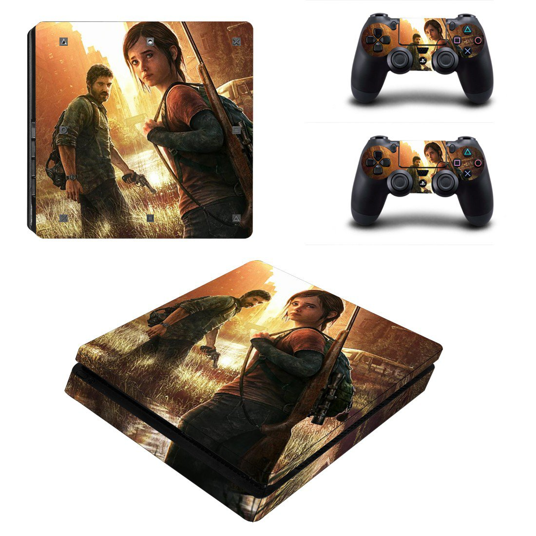 Last of us Play Station 4 slim skin decal for console and 2 controllers
