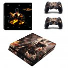 Godwar Remastered Play Station 4 slim skin decal for console and 2 controllers