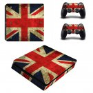 UK Flag Play Station 4 slim skin decal for console and 2 controllers