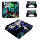 Mob Psycho 100 Play Station 4 slim skin decal for console and 2 controllers