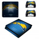 San Diego Chargers Play Station 4 slim skin decal for console and 2 controllers