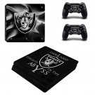 Oakland Raiders Play Station 4 slim skin decal for console and 2 controllers