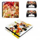 Dragon ball super Play Station 4 slim skin decal for console and 2 controllers