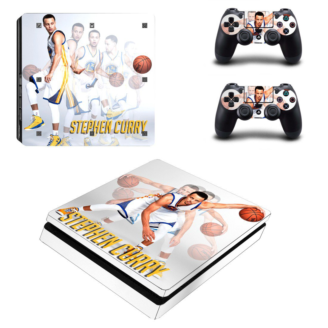 Stephen Curry Play Station 4 slim skin decal for console and 2 controllers