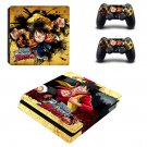 One Piece Burning Blood Play Station 4 slim skin decal for console and 2 controllers