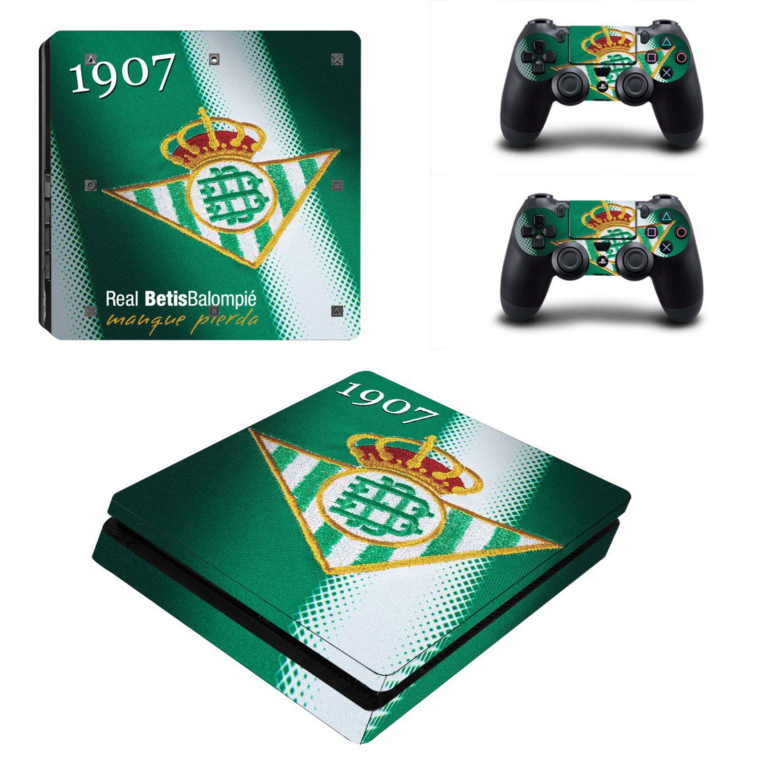Real Betis Play Station 4 slim skin decal for console and 2 controllers