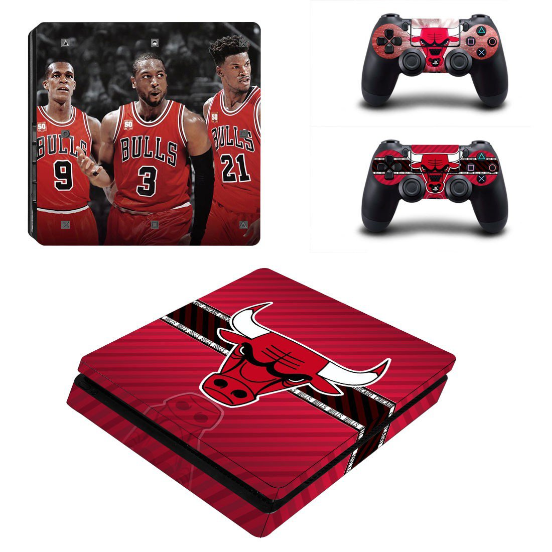 Buffalo Bills Play Station 4 slim skin decal for console and 2 controllers