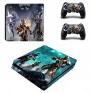 Suicide Squad Play Station 4 slim skin decal for console and 2 controllers