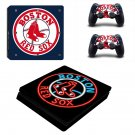 Boston Red Sox Play Station 4 slim skin decal for console and 2 controllers