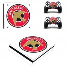 Walsall F.C Play Station 4 slim skin decal for console and 2 controllers