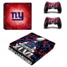NY Super bowl Play Station 4 slim skin decal for console and 2 controllers