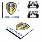 Leeds United F.C. Play Station 4 slim skin decal for console and 2 controllers