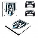 Heracles Almelo Play Station 4 slim skin decal for console and 2 controllers