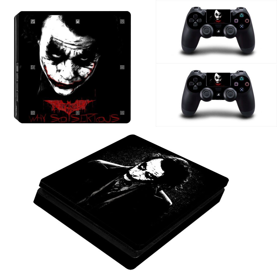 The Joker Play Station 4 slim skin decal for console and 2 controllers