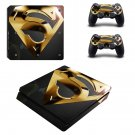 Superman Play Station 4 slim skin decal for console and 2 controllers